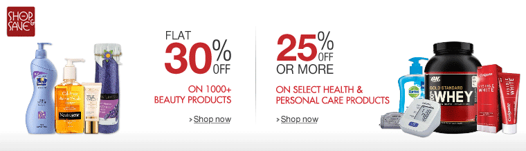 25% off or more on 1000+ Health & Beauty Products