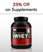 25% off on Supplements