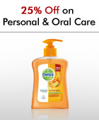 25% off on Personal & Oral Care