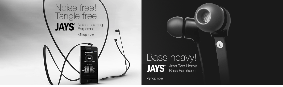Jays  - Noise Isolating & Heavy Bass Earphones