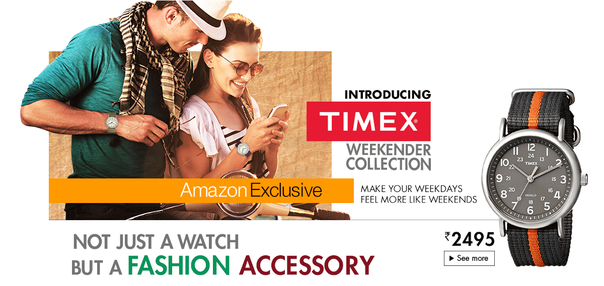 Shop Timex Weekender exclusively at Amazon.