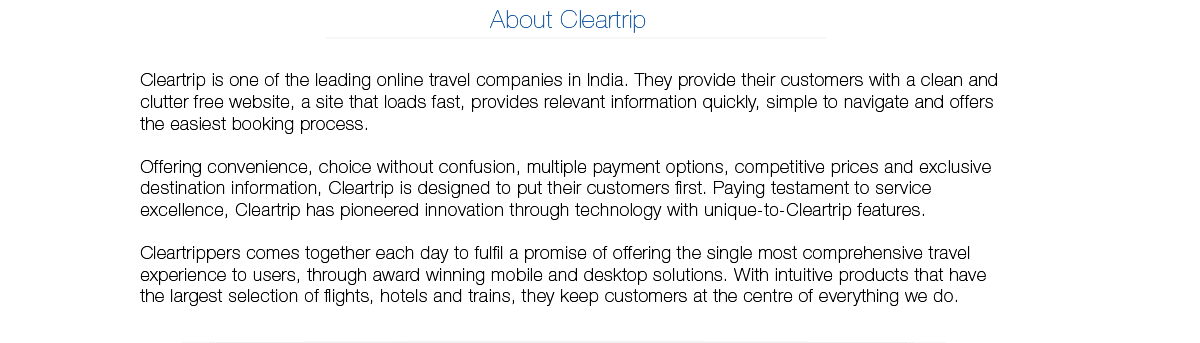 About Cleartrip