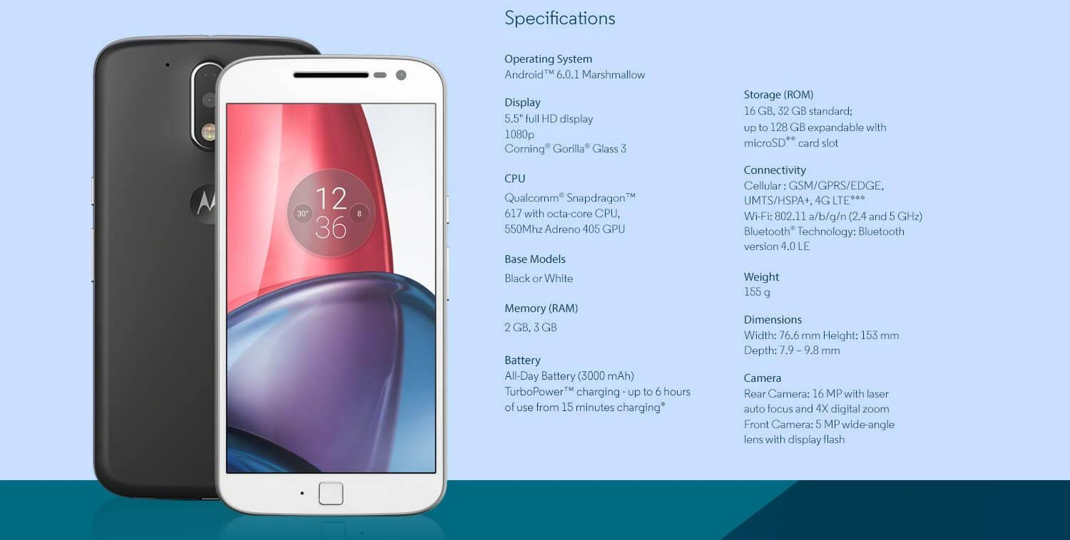 Motorola Moto G (4th Generation)-Price, Availability, Images And Specifications