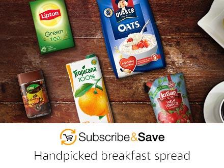 Handpicked breakfast spread