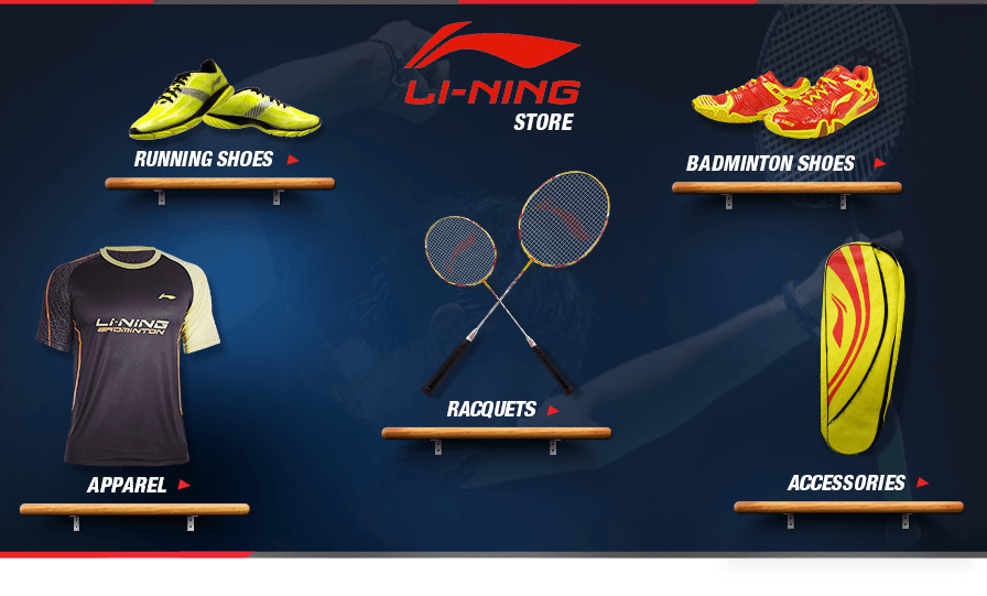Shop for Li-Ning Racquets, Footwear, Running Shoes, Badminton Shoes, Basketballs