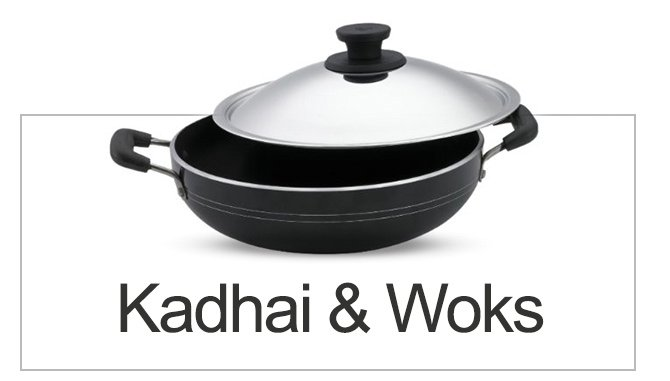 kadhai and woks