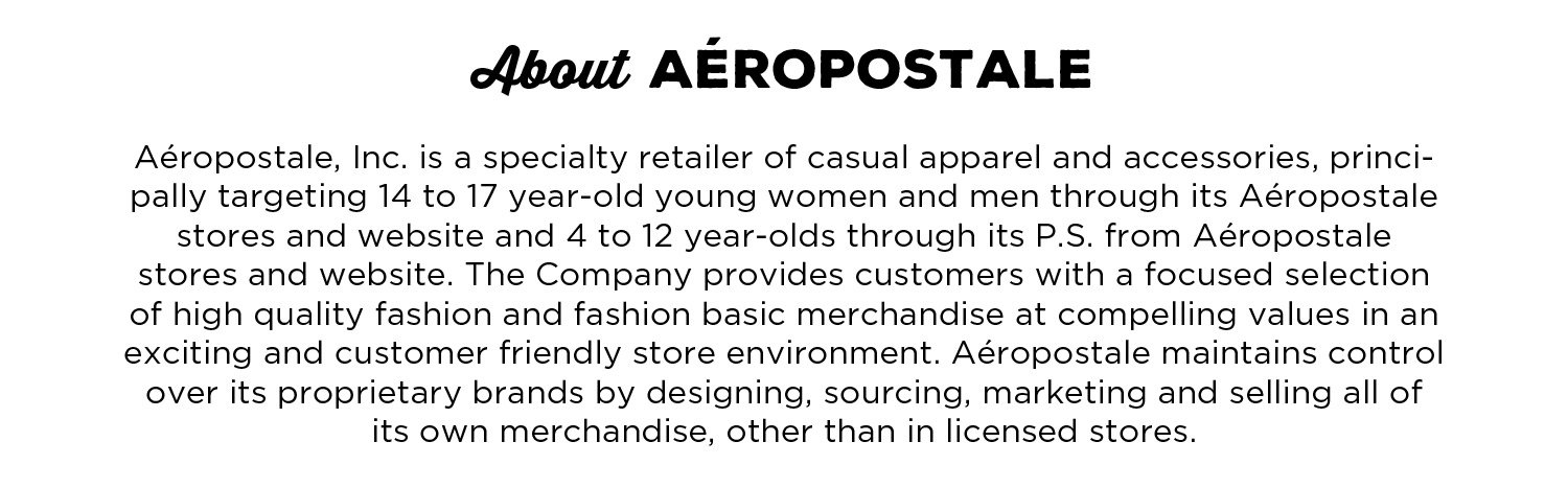 About Aeropostale