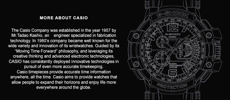 CASIO: ABOUT THE BRAND