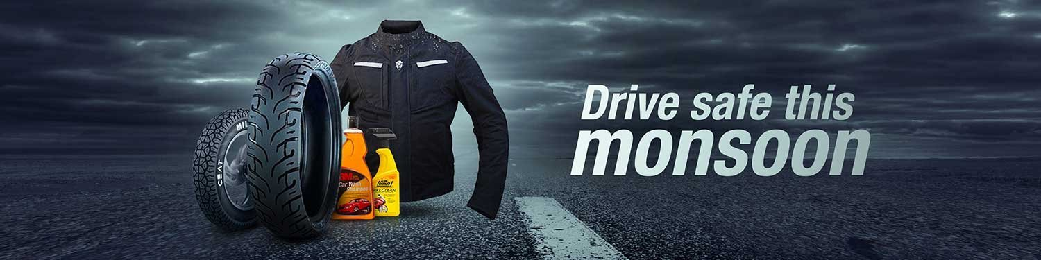 Monsoon essentials for your vehicle