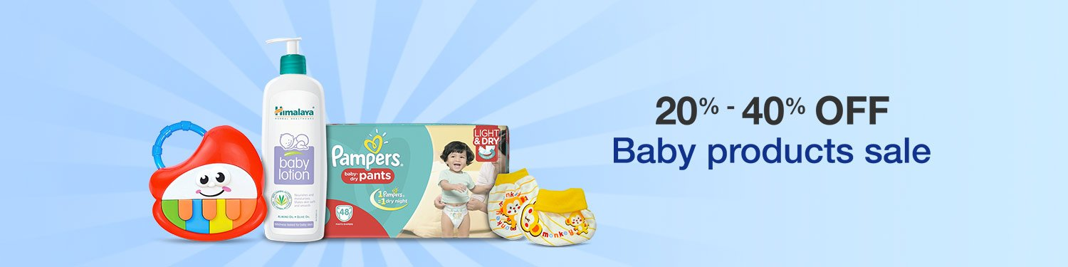 20-40% off or more baby products