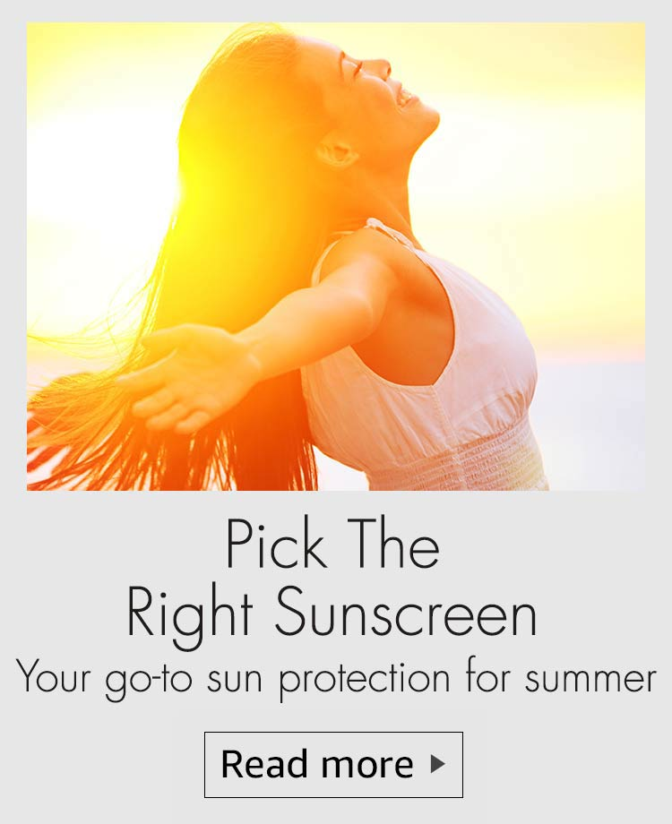 choose the right suncreenm suncreen, pick teh right sunscreen, suncreen guide, how to buy sunscreen, types of sunscreen, sunscreen gel, sunscreen for skin type, best suncreen to buy, shop trhe best sunscreen for indian skin type