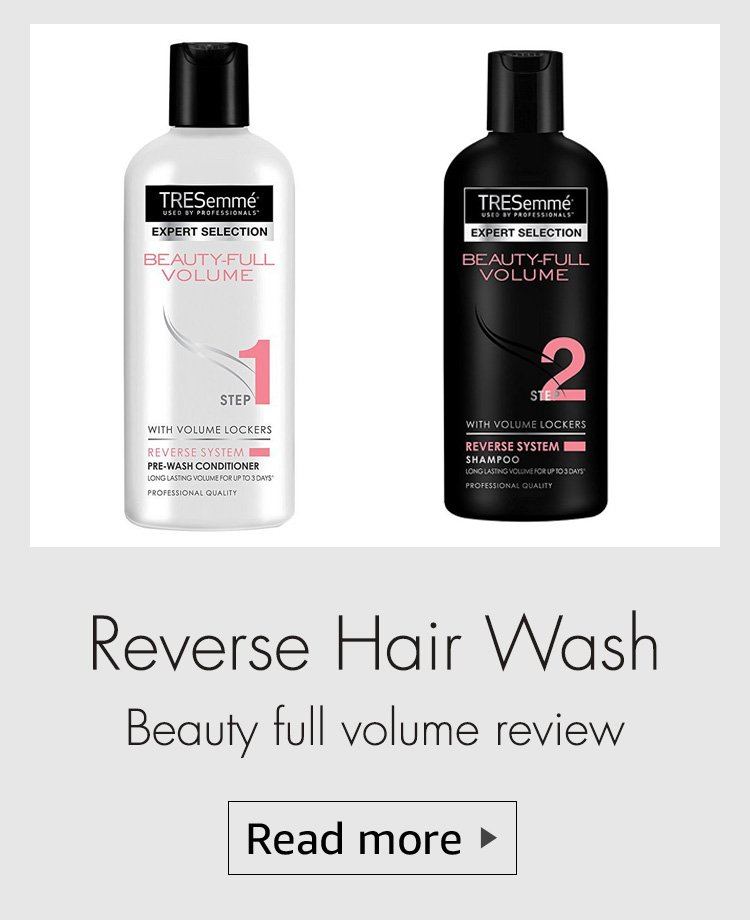 reverse hair wash review, tresemme shampoo review