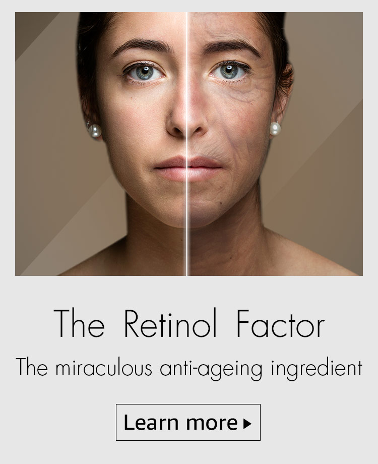 The Retinol factor, anti-ageing, wrinkles, acne