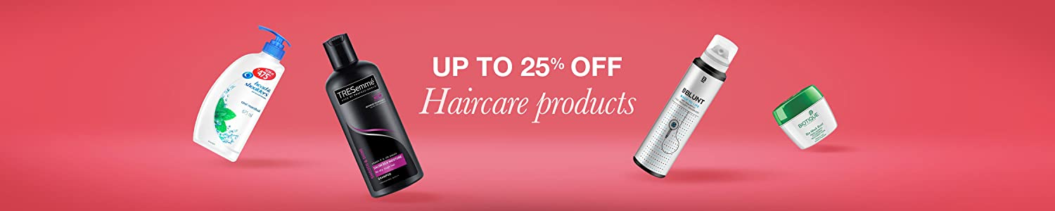 Hair care up to 25% off