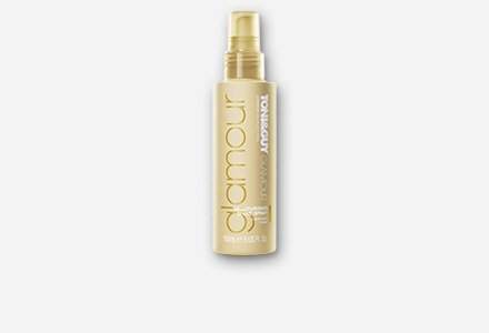 Toni & Guy Glamour Moisturising Shine Spray, 150ml, Add chic to your looks with a top bun, team it with a fruity lip.