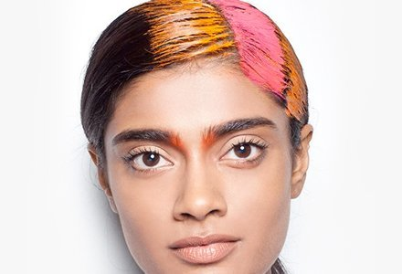 ##Temporary hues Grab everyone's attention with a temporary hair colour, team it with pop eye make up.
