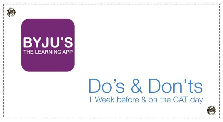 BYJU-Do's & Don'ts
