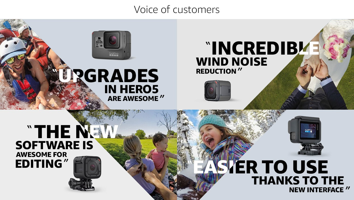 Voice of customers on Hero