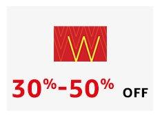 W 30% - 50% off