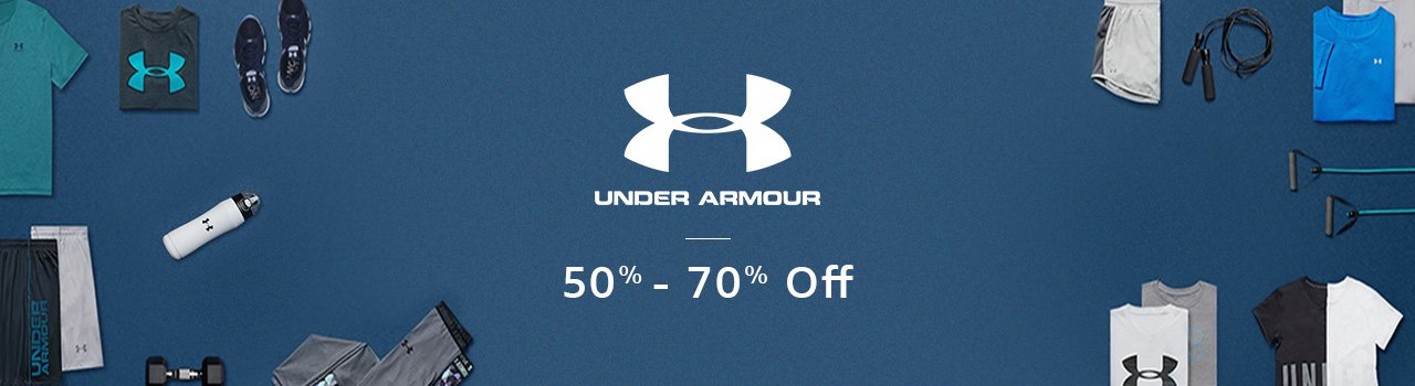 Under Armour 50% - 70% off