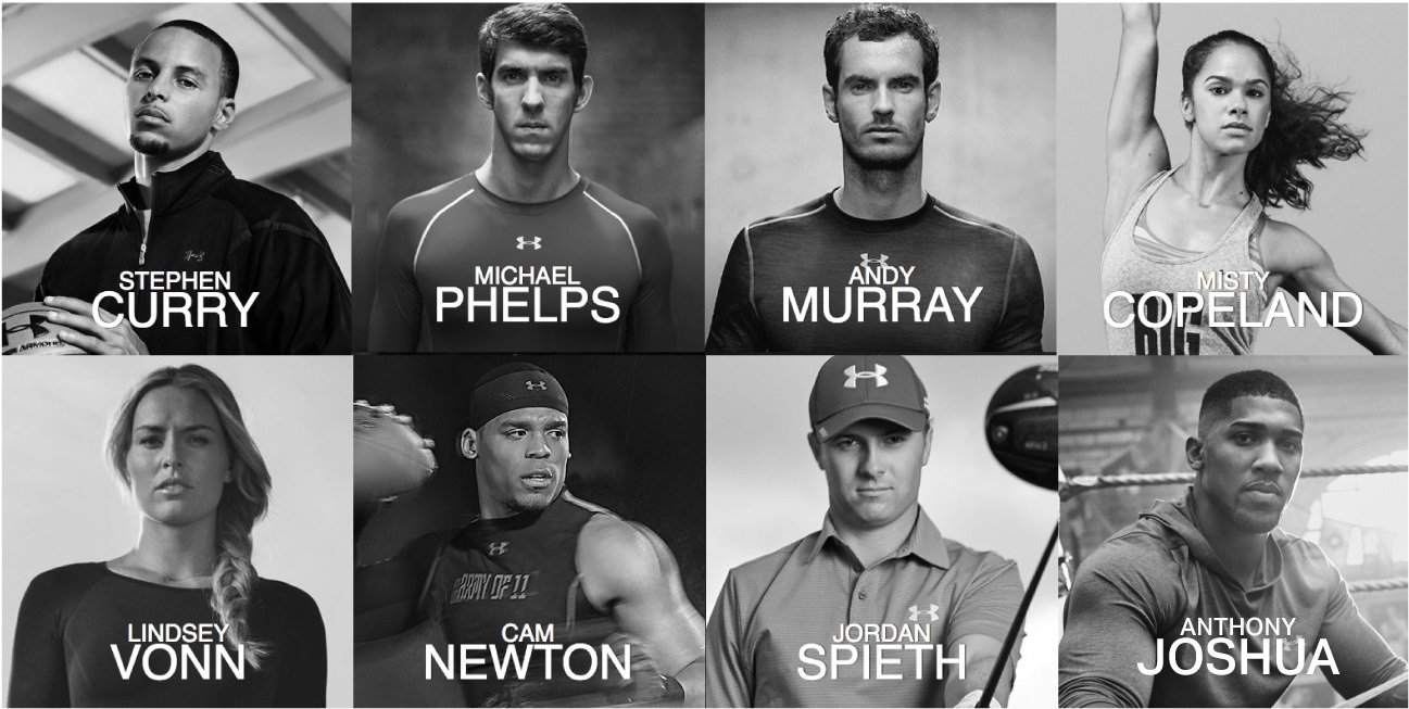 Athletes from Under Armour