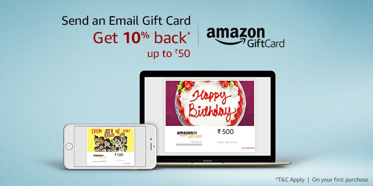 Get 10% back* | Up to Rs.50