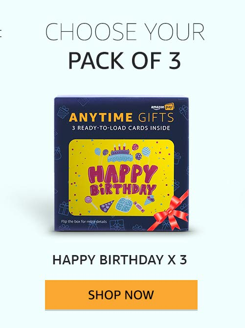 Happy birthday pack of 3
