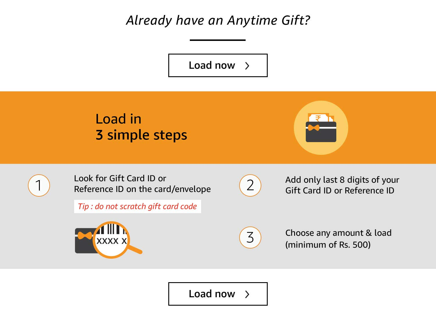 Amazon In How To Load Anytime Gifts Amazon Pay Gift Cards Gift Cards