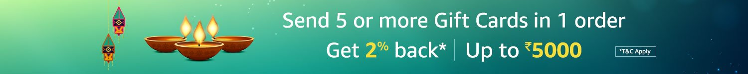 Get 2% back* Up to Rs.5000