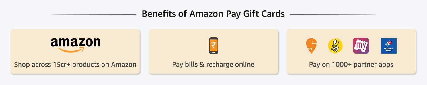 Benefits of Amazon Pay Gift Cards