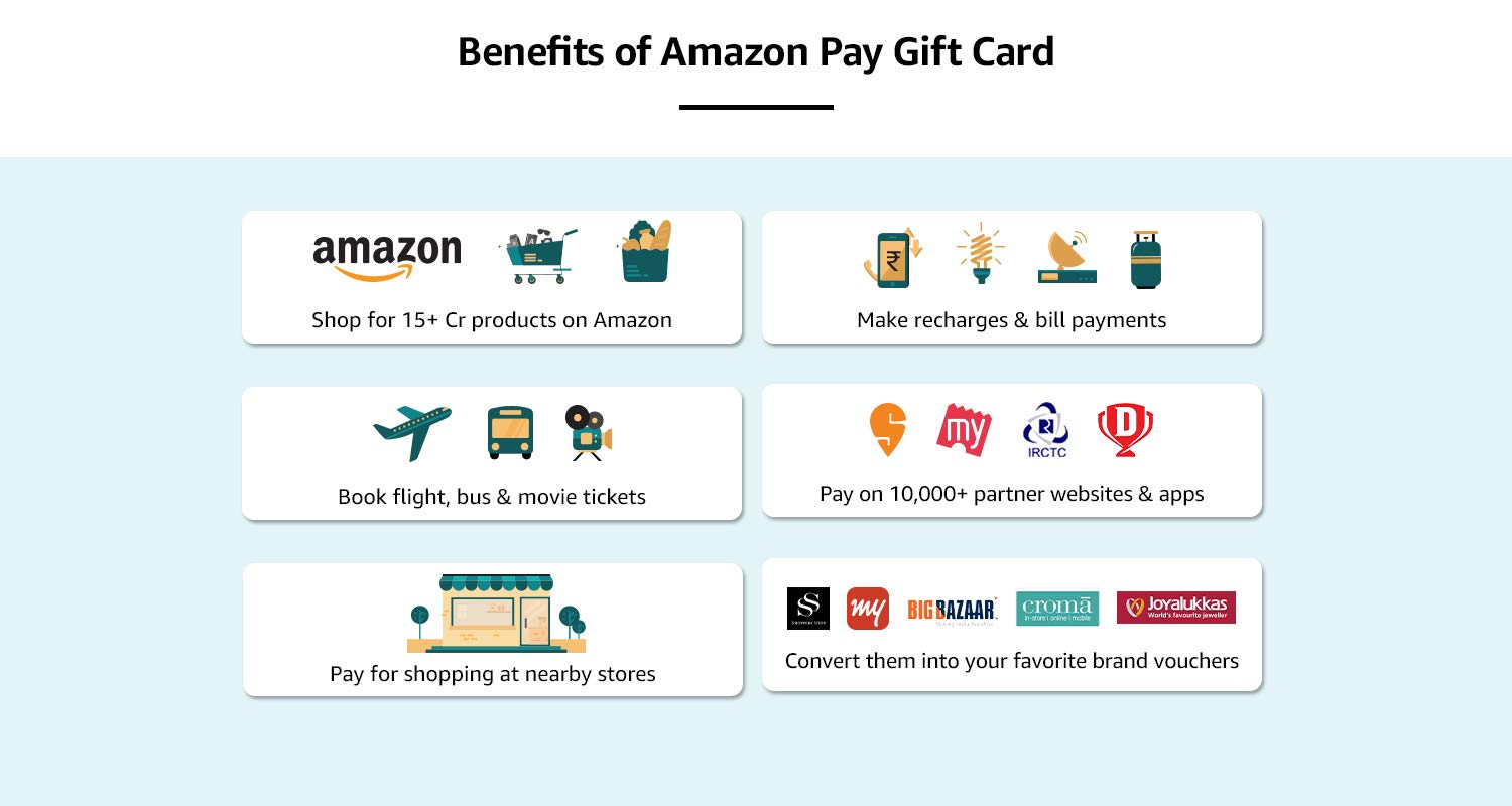 Benefits of Amazon Pay Gift Card