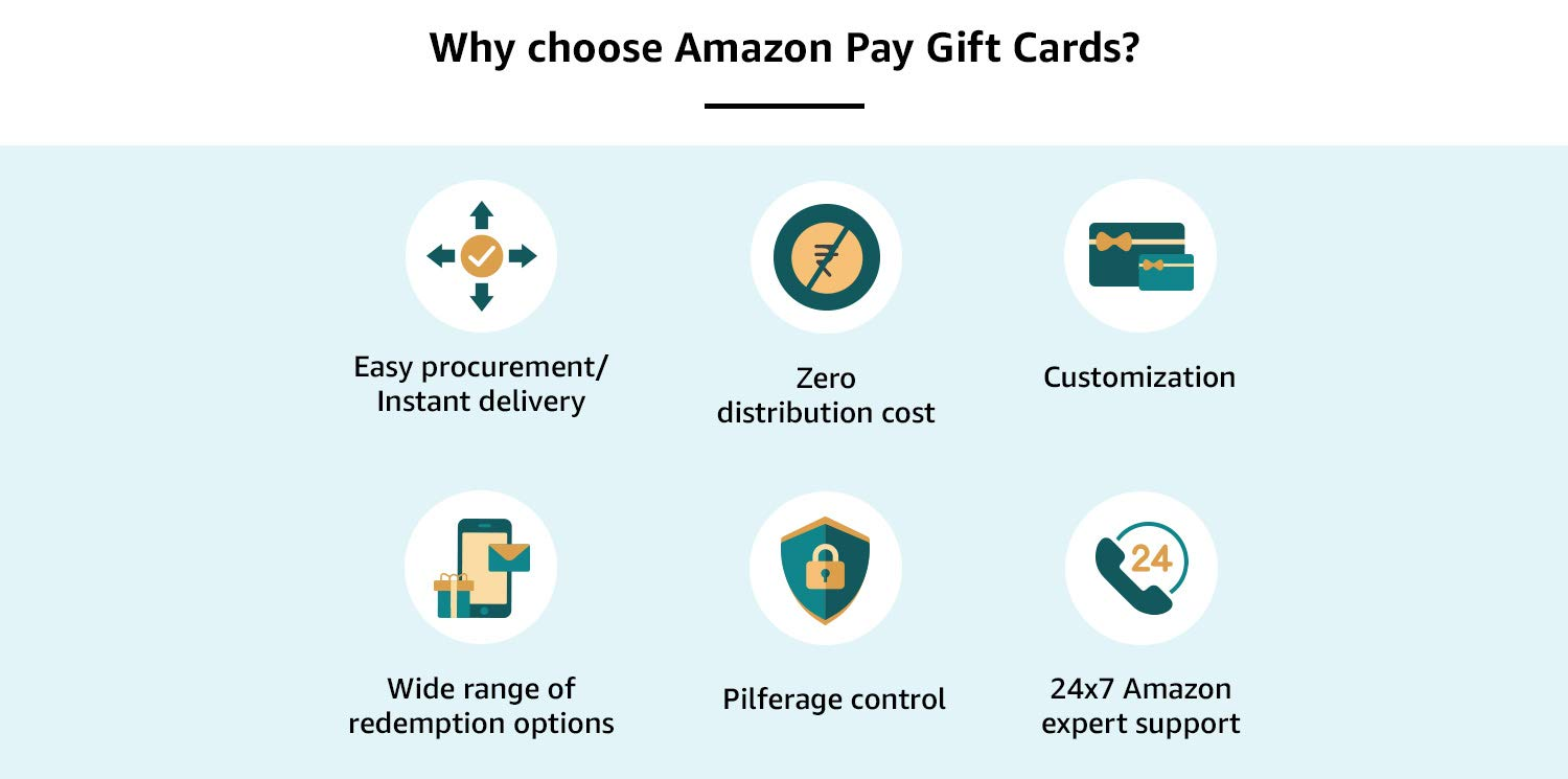 Why choose Amazon Pay Gift Cards?