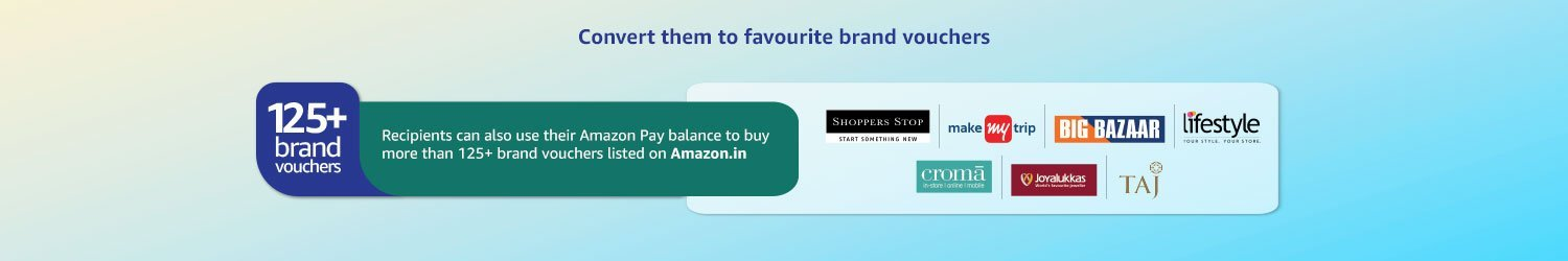 Convert them to favorite brand vouchers