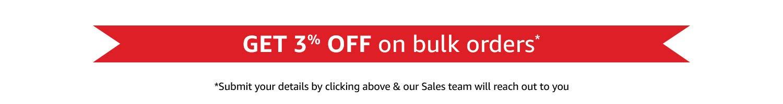 3% off on bulk orders