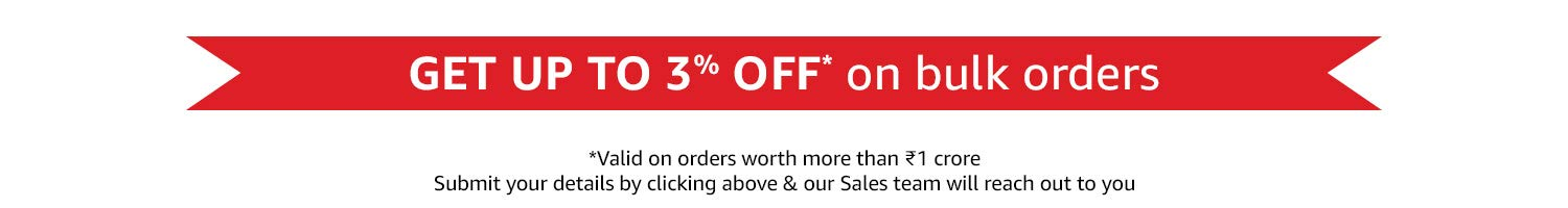 Up to 3% off* on bulk orders