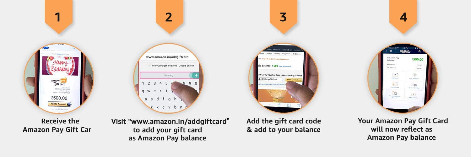 How to redeem Amazon Pay Gift Cards