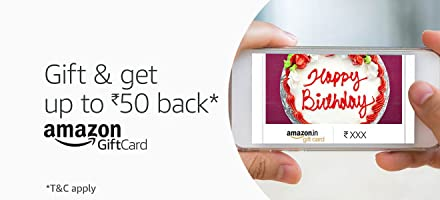 Gift and get up to Rs.50 back* | Amazon Gift Cards