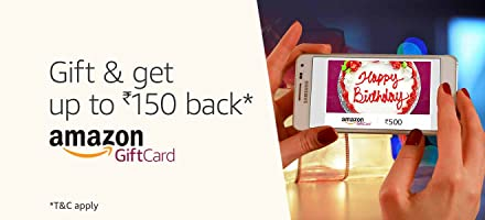 Gift and get up to Rs.150 back* | Amazon Gift Cards
