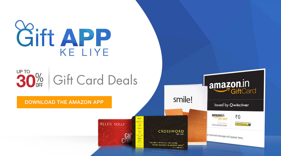 Amazon.in: Gift Cards: App only deals: Gift Cards