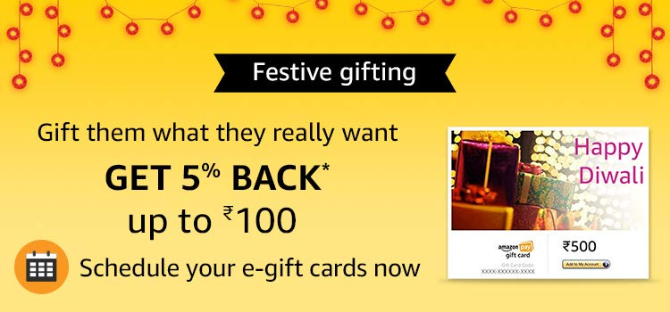 Get 5% back up to Rs.100