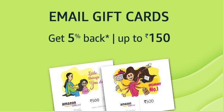 5% back, up to Rs.150