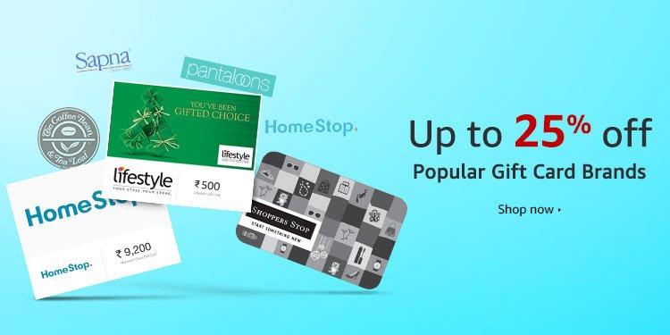 Popular Gift Card Brands
