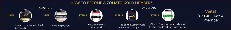 zomato gold activation code india