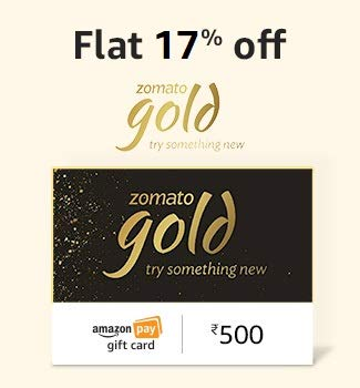 Zomato Gold Gift Card