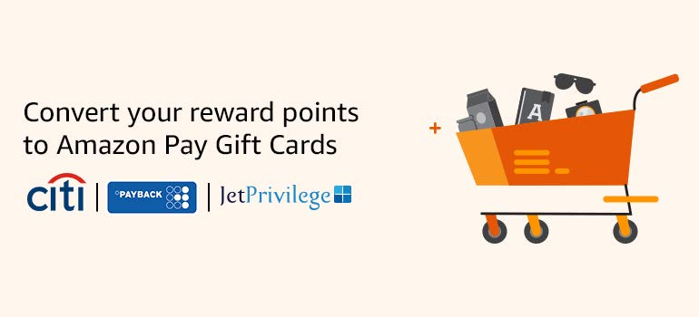 How to convert your Bank reward points to Amazon Gift Cards