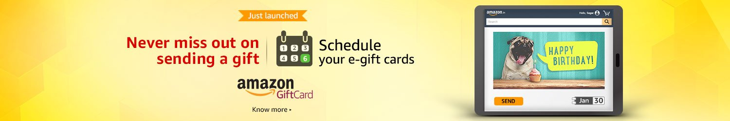 Schedule your e-gift cards