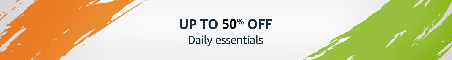 Daily essentials Flat 50% off