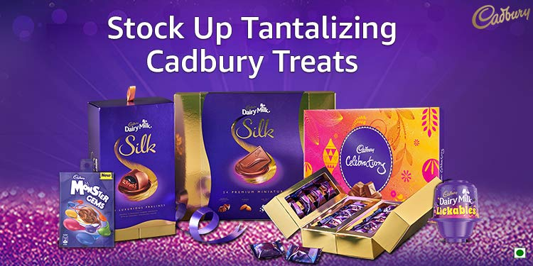 Indulge in Cadbury chocolates