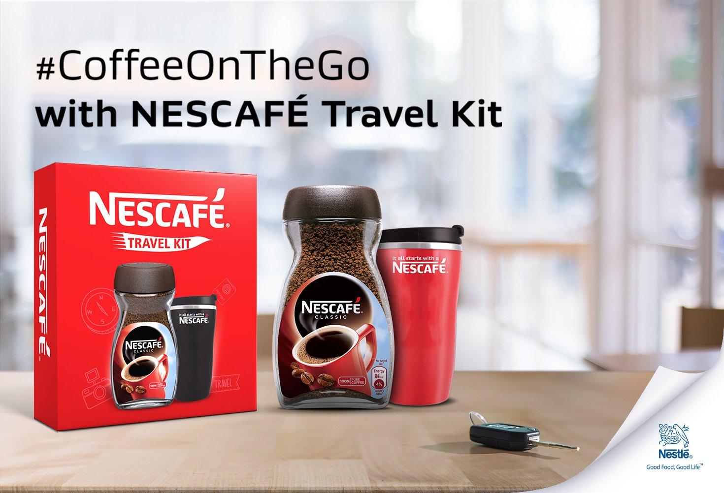 Nescafe travel kit