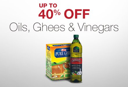 Oils, Ghees & Vinegars